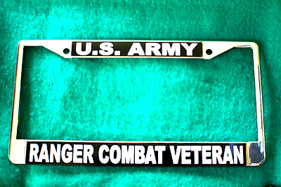License Plate Frame-US Army RANGER-Chrome #811034YB