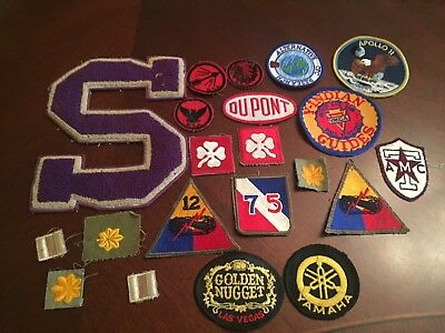 Nice Lot of 23 Vintage Antique WW2 Vietnam era Military Uniform Patches & Others