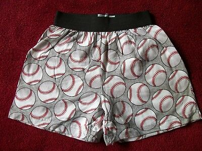 Baseball Print Novelty Boxer Underwear, Boys Sizes Large and Small. MADE IN USA