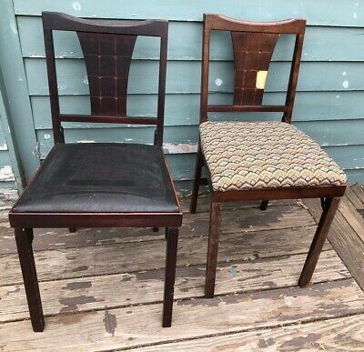 VINTAGE LEGOMATIC FOLDING CHAIRS BY LORRAINE INDUSTRIES set of 2