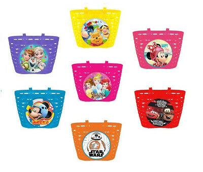 Disney MINNIE MOUSE  Kids  Bike Cycle Shopping Front BASKET and BELL Ring Alarm