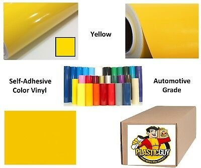 """48"""" x 50yd Yellow #021 Oracal 651 Graphic Sign Cut Vinyl (Private Label)"""