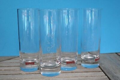 "BEEFEATER 1820 London Dry Gin Set of 4 Glasses Tom Collins 6 1/2 "" Tumblers"