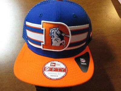 3ab93d45b DENVER BRONCOS (New Era 9Fifty) Truckers Snapback Hat (Adj) Nwt  28 Mesh  Back -  11.99