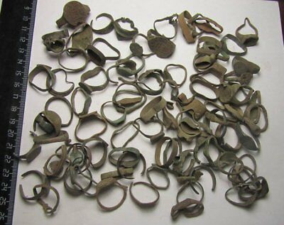 Ancient mix rings .Metal detector finds