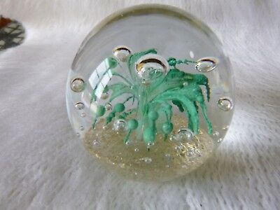 Retro Atomic Squid Glass Paperweight