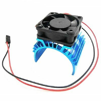 Heatsink & Cooling Fan Aluminum for 540 550 3650 Size Motor - Expands to 1/8