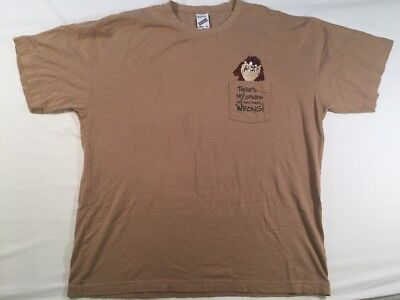 Vintage Tasmanian Devil Adult XL T-Shirt 1998  There's My Opinion And Then...