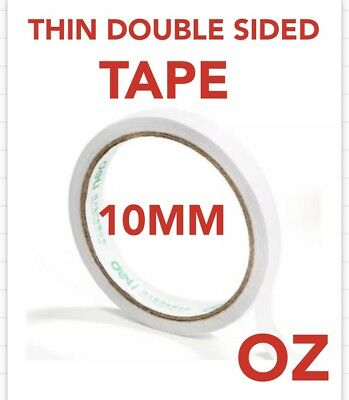 1 Pc White Roll of Double-sided Super Strong Thin Adhesive Tape Width 10mm.