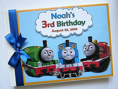 Train Themed Birthday Guest Book - Any Design