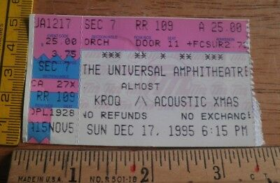 KROQ Almost Acoustic Christmas 1995 concert ticket Foo Fighters No Doubt Alanis