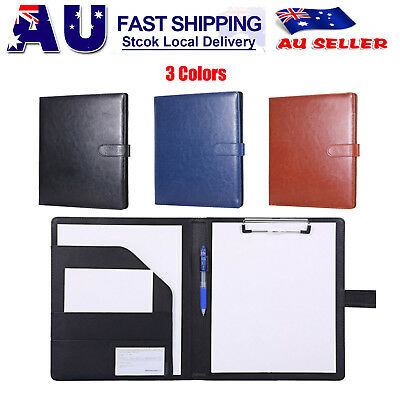 A4 PU Paper Meeting Conference Write Signature File Folder Pad Clipboard Holder