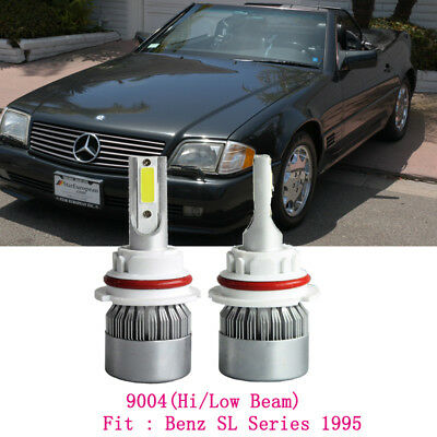 COB 9004 HB1 LED Headlight Bulbs For Mercedes Benz SL Series 1995 High Low Beam