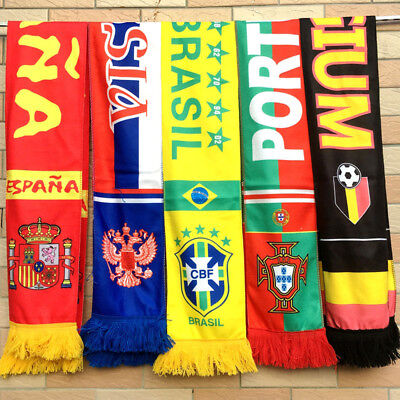 2018 World Cup Soccer Nation 32 Teams Scarfs Football Fans Souvenirs Scarves US