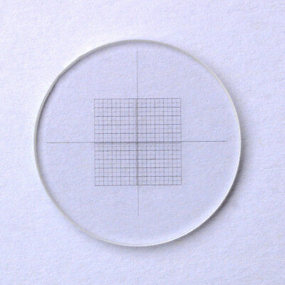 DIV 0.05mm Microscope Eyepiece Micrometer Grid Net Measuring Cross Ruler Reticle