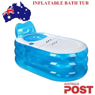 Portable Adult Child Inflatable Blowup Bath Tub PVC Spa Warm Bathtub Pink Sale