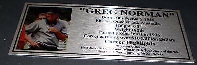 Golf Greg Norman Silver Sublimated  Plaque