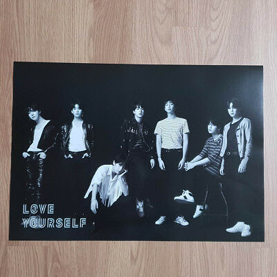 Poster Only BTS Love yourself Tear Official Poster O ver. Hard Case Tube Packing