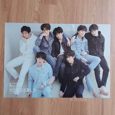 Poster Only BTS Love yourself Tear Official Poster R ver. Hard Case Tube Packing