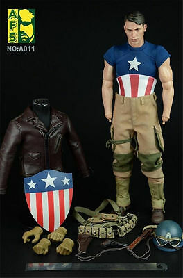 HOT FIGURE TOYS AFS A011 1/6 Captain America WWII Version Suit (NO Head&Body)