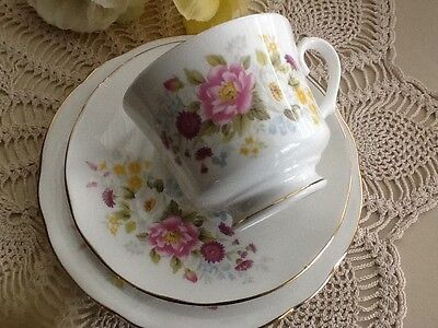 Vintage Tea Set Duchess Trio High Tea Shabby Chic Made in England Floral Set