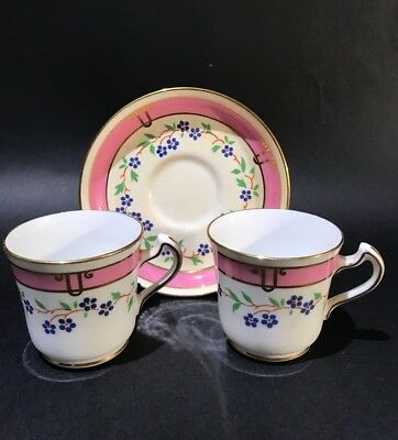 Vintage Tuscan Coffee Cup and Saucer & spare cup