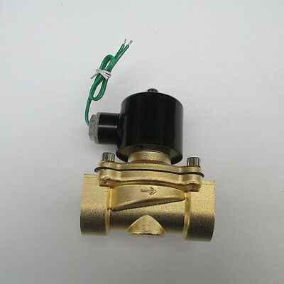 1'' Brass Electric Solenoid Valve 24VAC Air Water Gas Diesel co2 Normally Closed