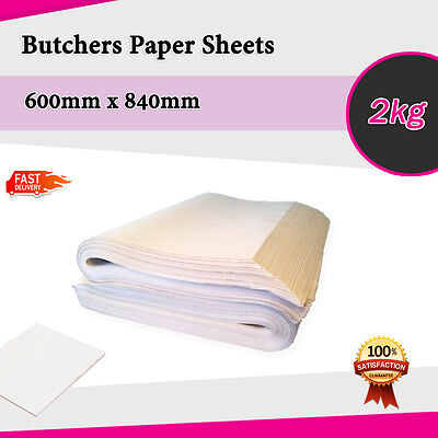 Butchers Paper 2kg of 600 x 840 FOOD GRADE SHEETS - Sydney Metro Only