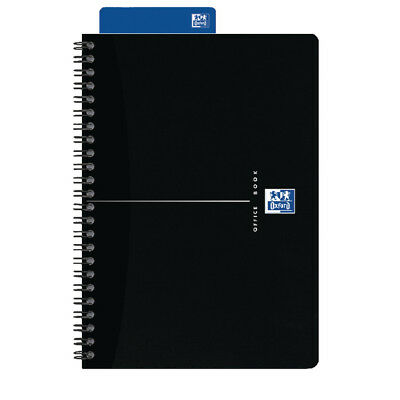 Oxford Smart A5 Wirebound Notebook Black Card Cover (Pack of 5) 100103627