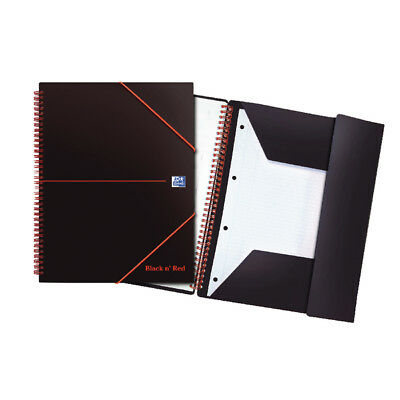 Black n Red Meeting A4 Book Wirebound Polypropylene Cover 160 Pages (Pack of 5)