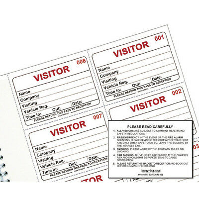 System Visitors Book Refill Ibrsys300