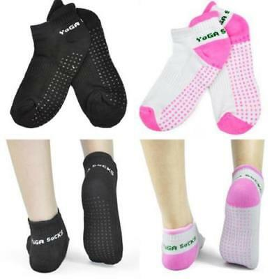 1- 4 Pairs Non Slip Yoga Aerobic Fitness Massage Grip Sport Gym Exercise Socks