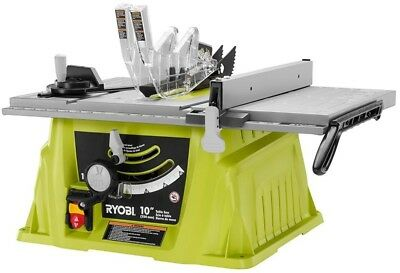 Porter cable 15 amp 10 in carbide tipped table saw 19799 picclick ryobi table saw 10 in 15 amp rip fence adjustable miter blade table mounted greentooth Gallery
