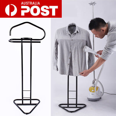 Valet Mens Shirt Jacket Suit Clothes Stand Rack Trousers Hangers Black Metal