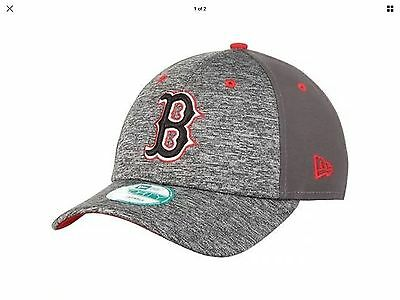 Boston Red Sox New Era 9Forty Shadow Adjustable Cap - Heather Grey/Graphite
