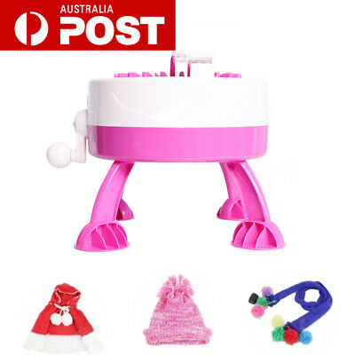 Kid Knitting Machine DIY Smart Loom Knitter Weaver Scarf Hat Sock Girl Toy Gifts
