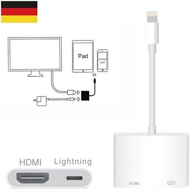 Lightning zu Digital AV TV HDMI Kable Adapter Für iPhone X 8 7 6S Plus iPad iPod