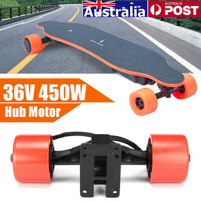 AU 450W 30km/h Electric Skateboard Hub Motor Kit for All Long Board Replaced