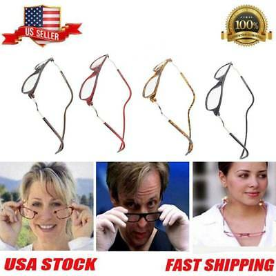 Clic Magnetic Front Connect Reading Eyeglass Adjustable Full Rim Glasses 4color