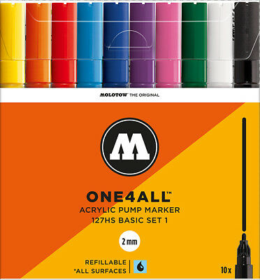 MOLOTOW ONE4ALL™ 127HS Acrylmarker Basic-Set 1 Permanentmarker *!bestprice!*