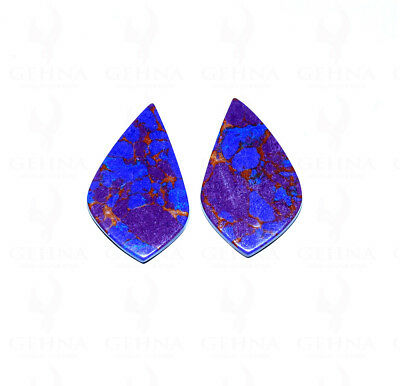 A Pair Of 39X23 Mm Size Fancy Shaped Purple Turquoise Gemstone Ss1063