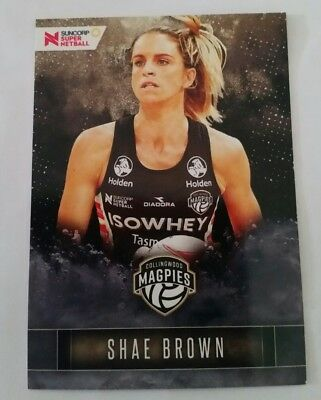 Suncorp Super Netball Trading Card Collingwood Magpies - 49 - Shae Brown