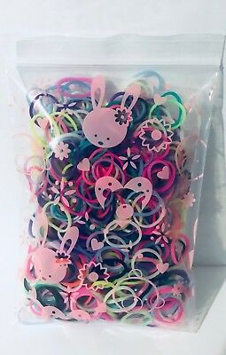300pc Colour Rubber Baby Toddler Hair Ties/Hair Band/Elastic Ties/