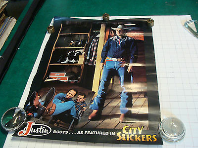 original vintage Poster: Justin Boots as featured in CITY SLICKERS movie-24 x 18