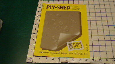 HIGH GRADE Original -- GLAS KRAFT 1957 PLY-SHED double sided ad sheet