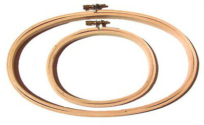 """Lightweight Wooden Oval Hoop 3"""" x 5"""" For Embroidery"""