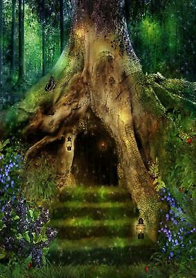 Magical Tree House Fairytale Forest Giant Poster - A4 A3 A2 A1 Sizes