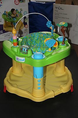 Evenflo Rock, Spin, & Bounce Exersaucer Zoo Friends Learning Center