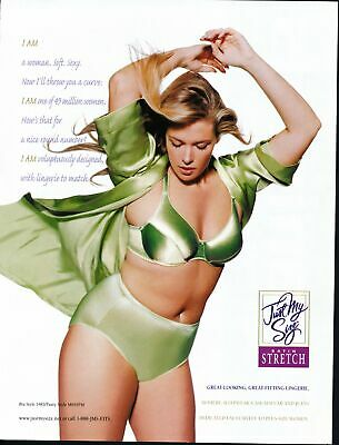 Print Ad~2001~Just My Size~Satin Stretch~Panties~Bra~Curvy~G200