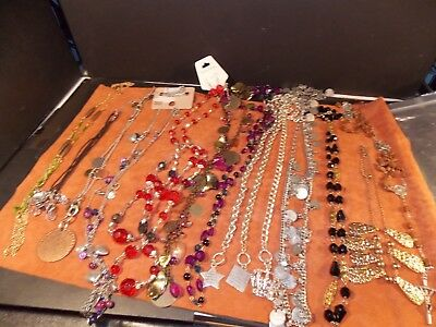 Job lot of 14 vintage necklaces  some old some not so